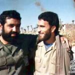 شهید دشتی در کنار سردار میرحسینی