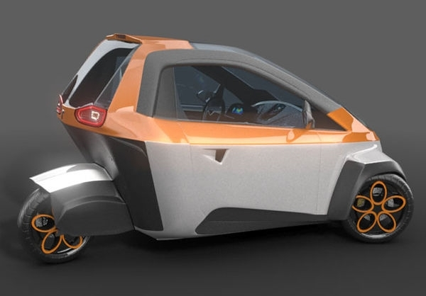 خودروی الکتریکی سه چرخ+تصاویر