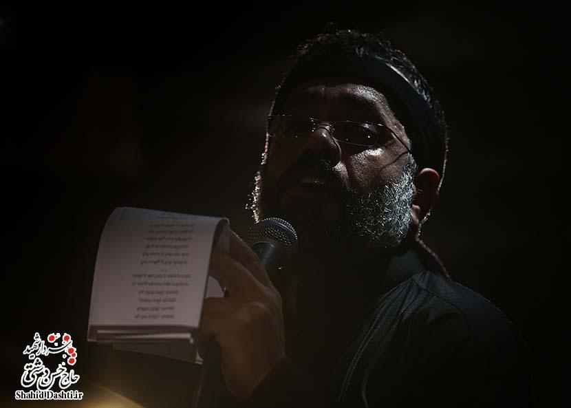 دانلود مراسم شب هشتم محرم ۹۵ با مداحی حاج محمود کریمی با نام شهیدم کاکلش در خون غلطونه