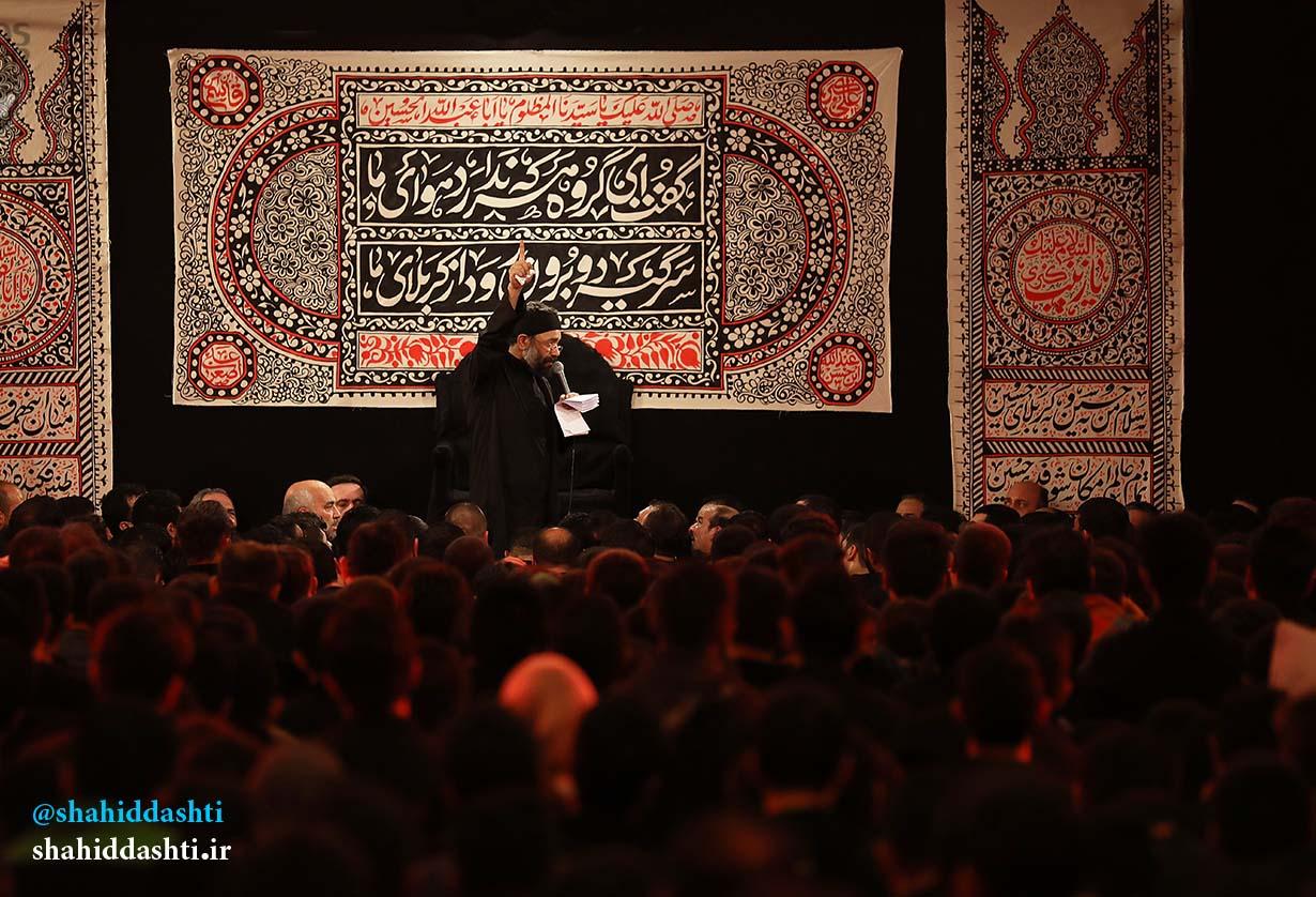 دانلود مراسم شب ششم محرم ۹۵ با حاج محمود کریمی با نام من بمیرم خاکی شده سر تا پات