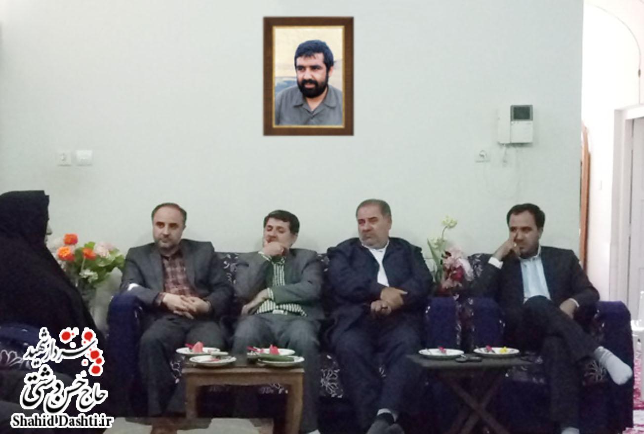 بازدید از خانواده سردار شهید حاج حسن دشتی به مناسبت هفته قوه قضاییه