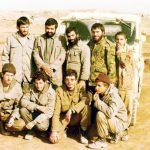 شهید حاج حسن دشتی در کنار خلیل حسن بیگی